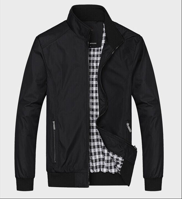 Solid Color New Casual Jacket Men Spring Autumn Outerwear