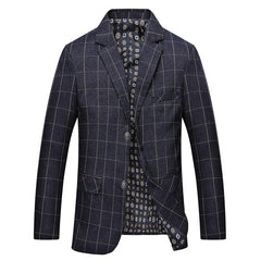 Plaid Men Blazer Suit Male Jacket Men Masculino Design Coat Slim Fit Blazer Styles Men Casual Blazer Jacket