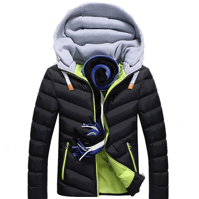 4XL Winter Parkas Men's Jackets Casual Hooded Coats Men Outerwear Thick Cotton Jacket Male Brand Clothing