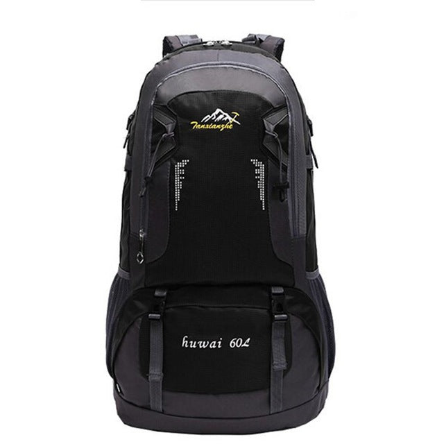 60L Waterproof Backpack Outdoor Nylon Mountaineering bag Men and Women Sports Rucksack High-capacity Anti-theft Bags
