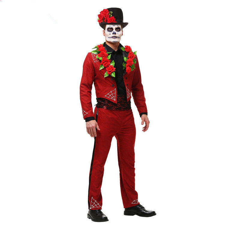 Costbuys  Red devil costume halloween cosplay costumes for men Easter costume for men devil costume magician cosplay halloween c