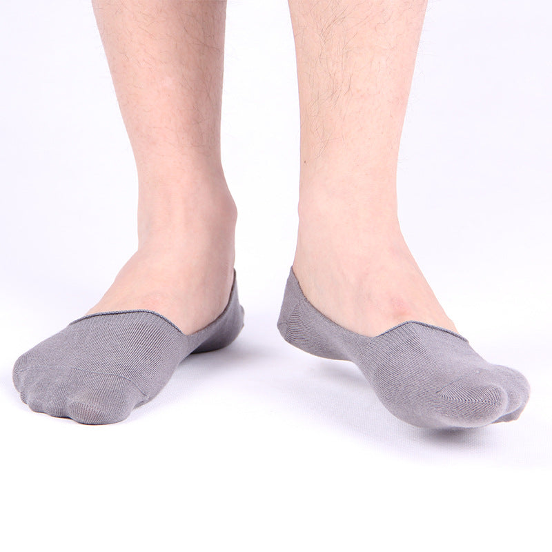 5 Pairs Fashion Casual Men Socks High Quality Cotton & Bamboo Male Brief Invisible Slippers Shallow Mouth No Show Sock