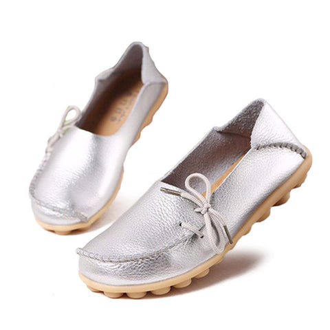 New Vintage Handmade Folk Style Women Flats Casual Shoes Genuine Leather Lady Soft Bottom Shoes for Mother Fashion Loafers