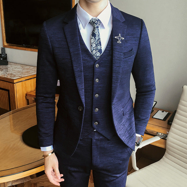Luxury New Arrival Autumn Formal Mens Suits Wedding Groom Costume ...