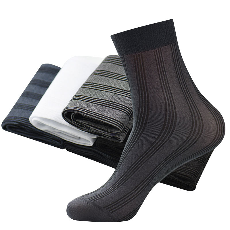 10 Pairs/lot Men Socks Solid Color Business Fashion Mature Non-slip Male Short Sock Summer Durable Breathable High Quality Meias