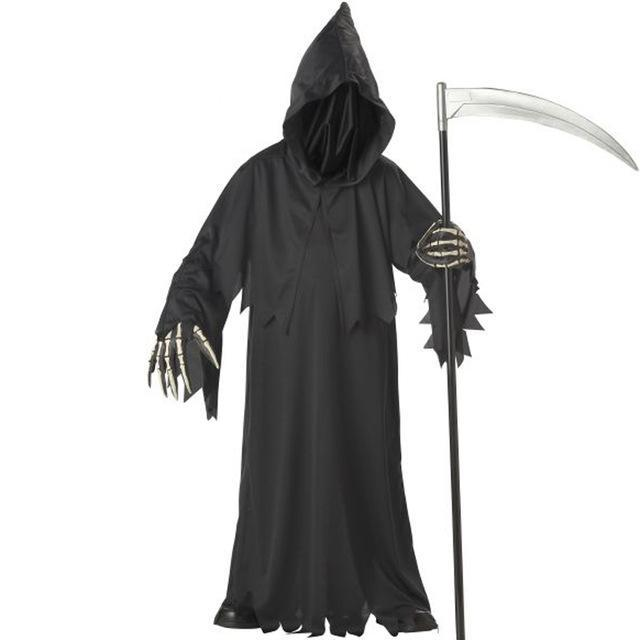 Costbuys  High-quality grim reaper costume with hat masks skeleton hands costumes adults men halloween cosplay skeleton costumes