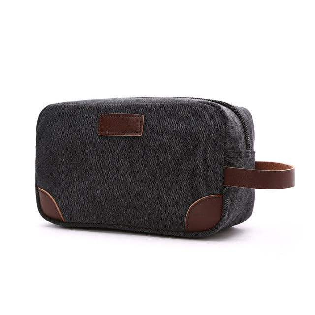 Costbuys  Canvas Ladies Clutch Bag Women's Casual Tote Female PU Hand Bag Evening Clutch Bags School Pen Storage Bag - Black