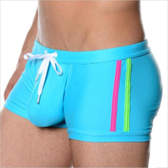 Men Swimwear Trunks Swimsuits Mens Swim Boxer Shorts Surf Board Shorts Gay Pouch Swimming Wear Male Surfing