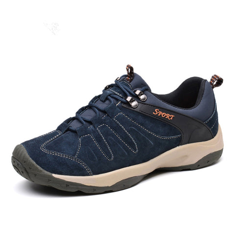 New hiking shoes mesh rubber sole men outdoor shoes Breathable soft climbing camping