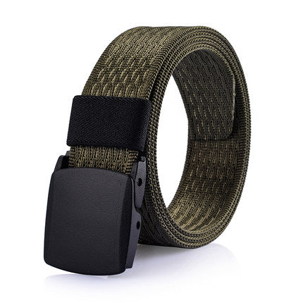 Costbuys  High Quality Anti Allergy Canvas Tactical Belt Outdoor Quick-Drying Military Belts For Men's Solid Patriot Belt Black