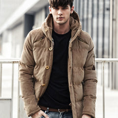 Men Winter Jacket Coat Fashion Quality Cotton Padded Windproof Thick Warm Soft Brand Clothing Hooded Male Down Parkas