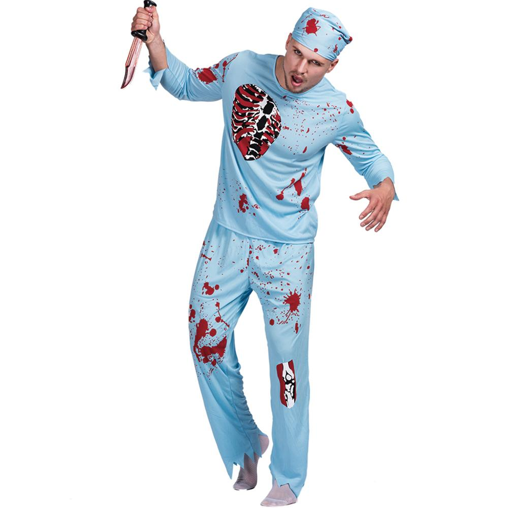 Men Walking Dead Doctor Zombie Bloody Surgeon Costume Carnival Party Adult Male Outfits Scary Bone Physician Halloween Costumes  sc 1 st  Costbuys & Men Walking Dead Doctor Zombie Bloody Surgeon Costume Carnival Party ...