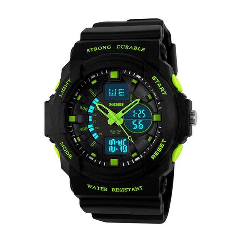 Sport Alarm Watches Waterproof Men Women Kids Outdoor Sport Watch Multi functional Dual Display Wristwatches