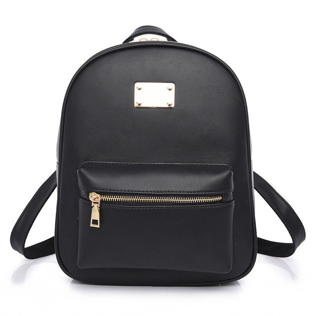 Costbuys  Women Backpack For Girls Backpacks Black Backpacks Female Girls Bags Ladies Black Backpack - 1538 Black / W24H30D12 CM