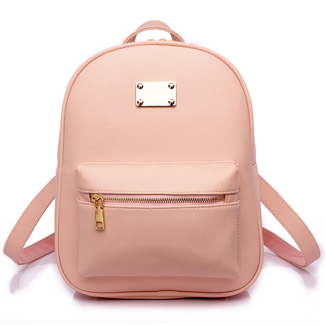 Costbuys  Women Backpack For Girls Backpacks Black Backpacks Female Girls Bags Ladies Black Backpack - 1538 Pink / W24H30D12 CM