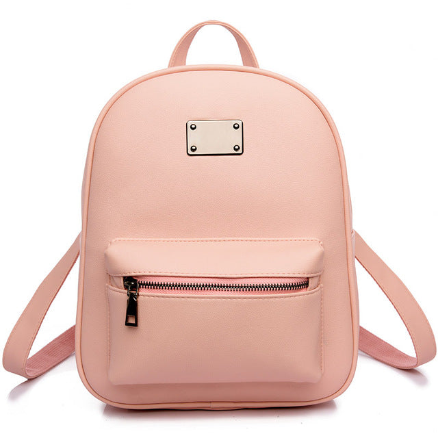 Costbuys  Women Backpack For Girls Backpacks Black Backpacks Female Girls Bags Ladies Black Backpack - 1742 Pink / W24H30D12 CM