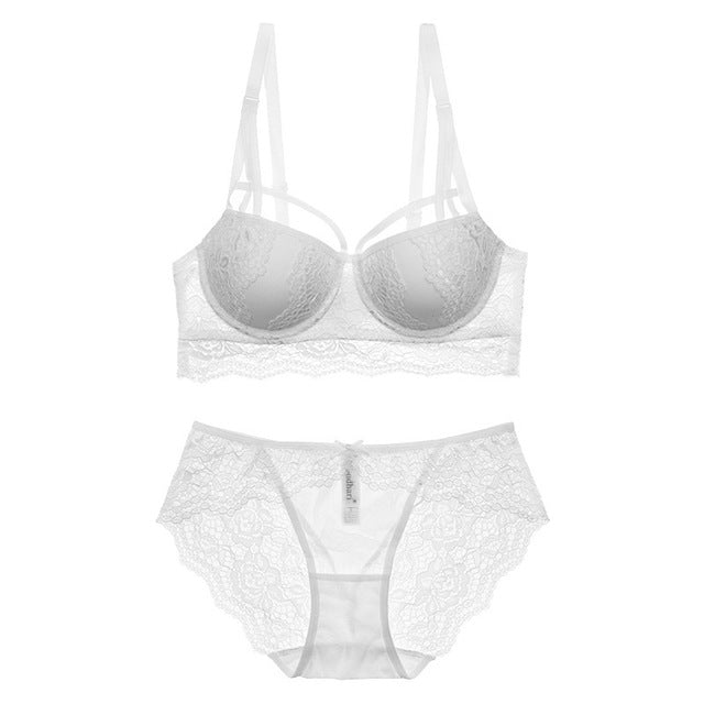 Sexy Lace Bra Set 3/4 Cup adjustable Push up Vs Bra Lingerie Underwear Sets For Women 70-85A B C Cup
