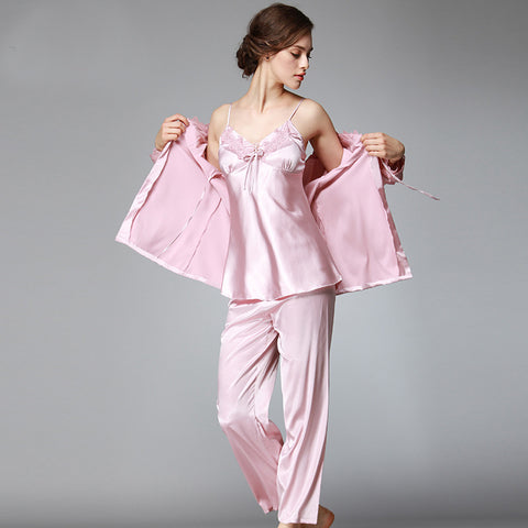 New Design pajamas sets summer style women Sexy sleepwear set Silk Embroidery shorts Indoor Clothing pyjama femme