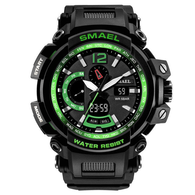 Costbuys  Men Top Brand Electronic LED Digital Wrist Watches For Male Sport Watch Men Military Clock - Black Green