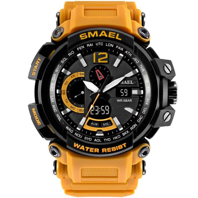 Costbuys  Men Top Brand Electronic LED Digital Wrist Watches For Male Sport Watch Men Military Clock - Orange