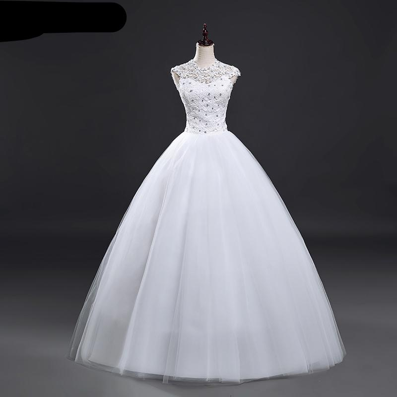 Short Sleeve Ball Wedding Dresses Lace Vintage Plus Size Bridal Gown