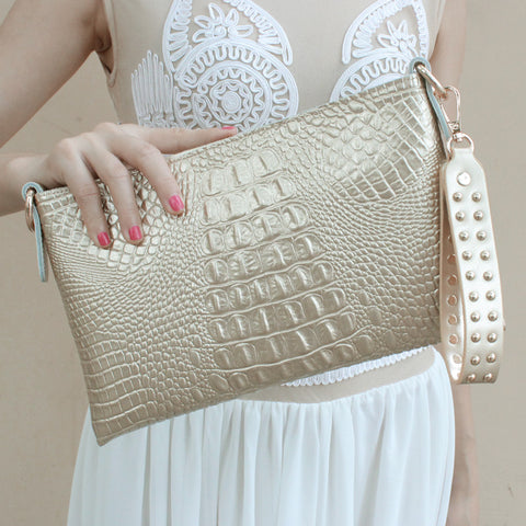 National trend handmade fabric embroidery embroidered bags shoulder messenger bag day clutch