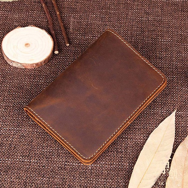 Costbuys  Genuine Leather Men Passport Cover Handmade Rtro Cool Mens Passport Holder Brand travel Men Covers for Passports