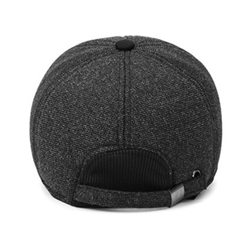 Adult Men's Hat Winter New Style Thicker Warm Cotton Baseball Cap Outdoor Male Bone Dad Hats Adjustable Size Tongue Caps