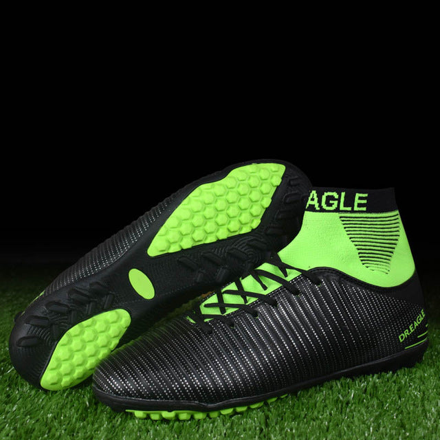 Costbuys  Football shoes for men high cleats soccer original With Socks Professional Football Boot FOOTBALL WITH ANKLE BOOTS - t