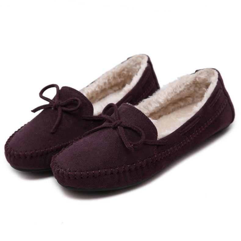 Winter Loafers Women Shoes Woman Leather Moccasins Boat Flats Fashion Casual Home shoes
