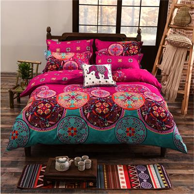 Costbuys  Full/Queen/King Size Bedding Sets Bohemian Style 3/4 pcs Duvet Cover Sets Pillowcases Comforter Covers bed-sheet - 01