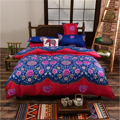 Costbuys  Full/Queen/King Size Bedding Sets Bohemian Style 3/4 pcs Duvet Cover Sets Pillowcases Comforter Covers bed-sheet - 02