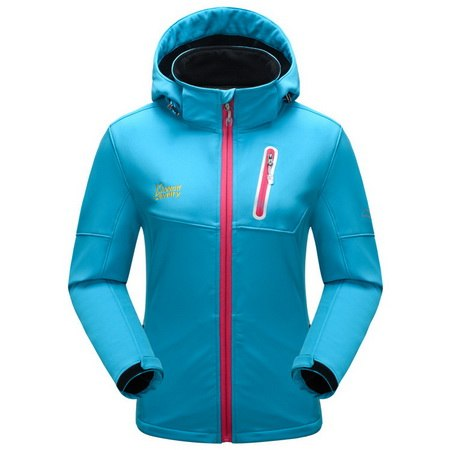 Costbuys  Outdoor Softshell Hiking Jacket Men Women Winter Warm Waterproof Coat For Camping Trekking Ski Sport - women lake blue