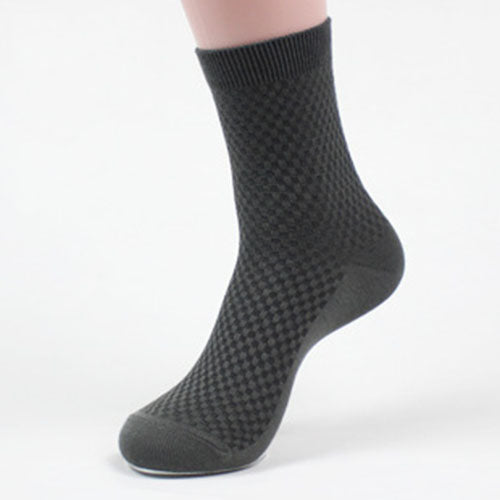 5 Pairs Men Socks Fashion Solid Color Business Bamboo Fiber Short Socks Spring Autumn Breathable Durable Male Sock Meias