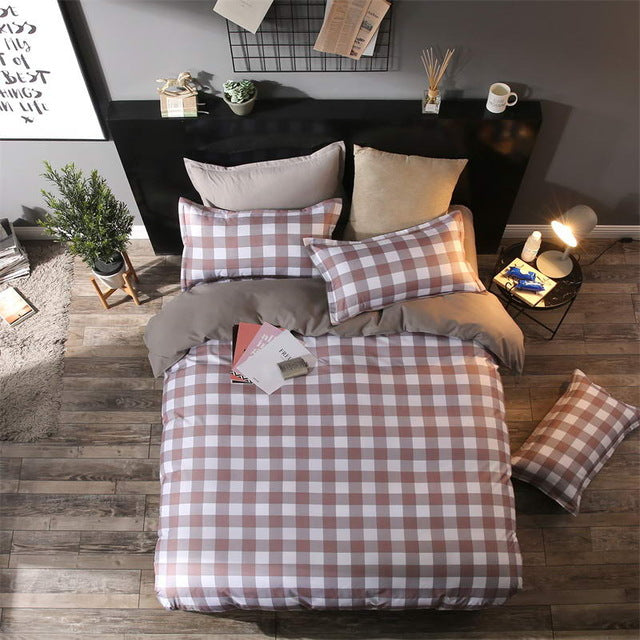 Costbuys  Bedding Sets Long period flowers Polyester Cotton Queen full Bed Linens duvet cover Sheet Sets - 3 / Twin Cover 150by2