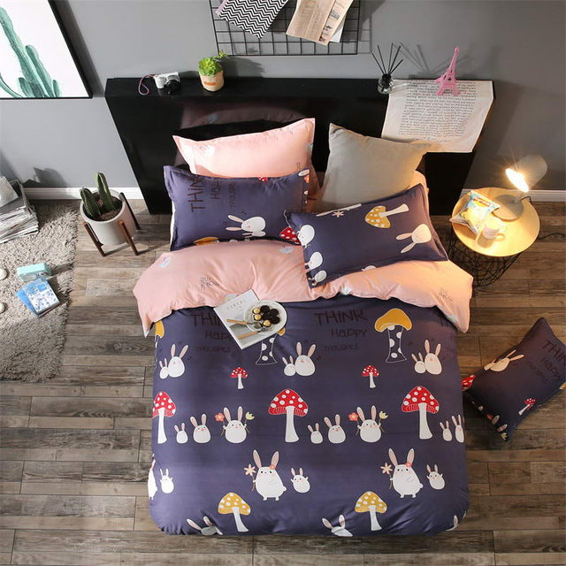 Costbuys  Bedding Sets Long period flowers Polyester Cotton Queen full Bed Linens duvet cover Sheet Sets - 5 / Twin Cover 150by2