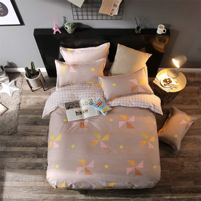 Costbuys  Bedding Sets Long period flowers Polyester Cotton Queen full Bed Linens duvet cover Sheet Sets - A5 / Queen cover 200b