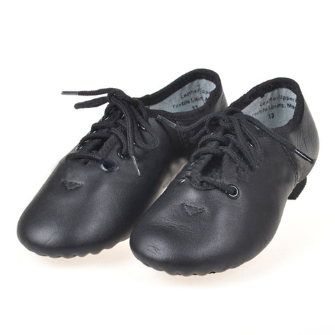 Genuine leather soft black and brown Dance Shoes Jazz Shoes men
