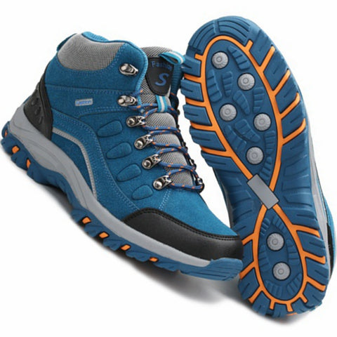 Hiking Shoes Men Genuine leather outdoor boots men trekking shoes camping Waterproof Climbing shoes