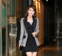 Women's Autumn Candy blazers Coats female One Button Office Blaser patchwork Color Suit Long jacket Clothing