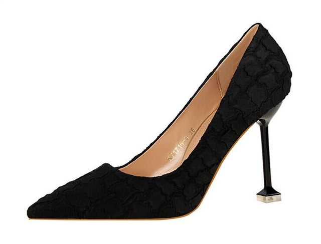Sexy Shoes Woman High Heels Stone texture Stiletto Heels Women Pumps Party Wedding Shoes Patent Womens Shoes