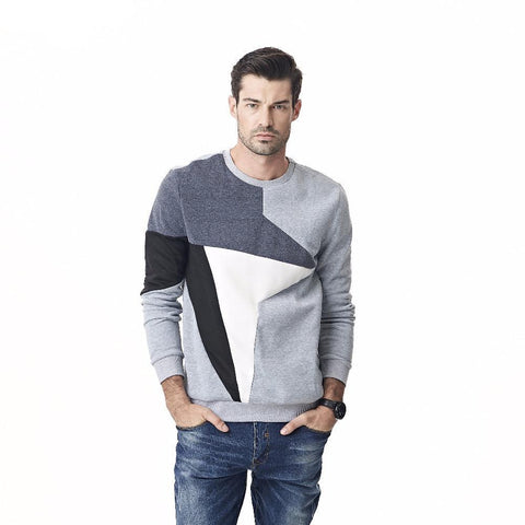 New Men Hoodies Sweatshirt Brand Clothing Fashion Autumn Patchwork Cotton Tracksuit Male Pullover Sportswear