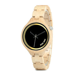 Wood Women Watch at 4 o'clock Slant LOGO Wooden Band Exquisite Quartz Watches ladies Timepieces as Gift