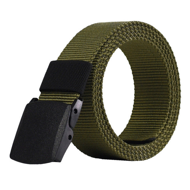 Automatic Buckle Men Canvas Belts Male Army Tactical Belt Men's Military Waist Nylon Strap Male Fashion Casual Belt