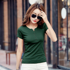 Basic T Shirt Women short Sleeve Womens Tops Spring Autumn Tee Shirt Women T-Shirt Cotton