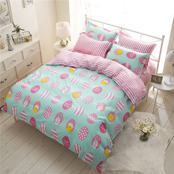 Costbuys  Flower fruit fashion3/4pcs bedding sets bedclothes for kids twin full queen king size bed linen Duvet Cover Bed sheet