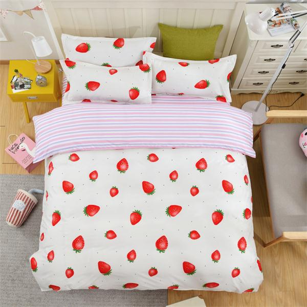 Costbuys  Pink king queen Single size - bed linen bedding sets bedclothes duvet cover bed sheet pillowcases - as picture 10 / Fu