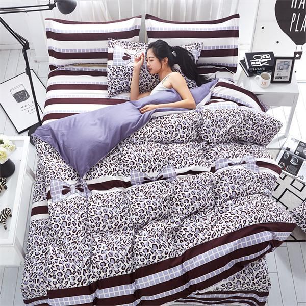 Costbuys  Pink king queen Single size - bed linen bedding sets bedclothes duvet cover bed sheet pillowcases - as picture 7 / Sup