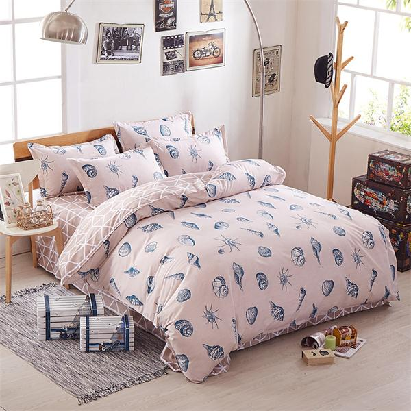 Costbuys  Pink king queen Single size - bed linen bedding sets bedclothes duvet cover bed sheet pillowcases - as picture 13 / Fu