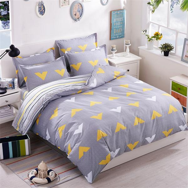 Costbuys  Pink king queen Single size - bed linen bedding sets bedclothes duvet cover bed sheet pillowcases - as picture 11 / Fu